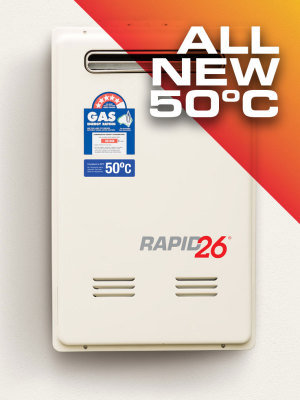 NEW Rapid 26 Instant Hot Water Heater 50 Degree Model